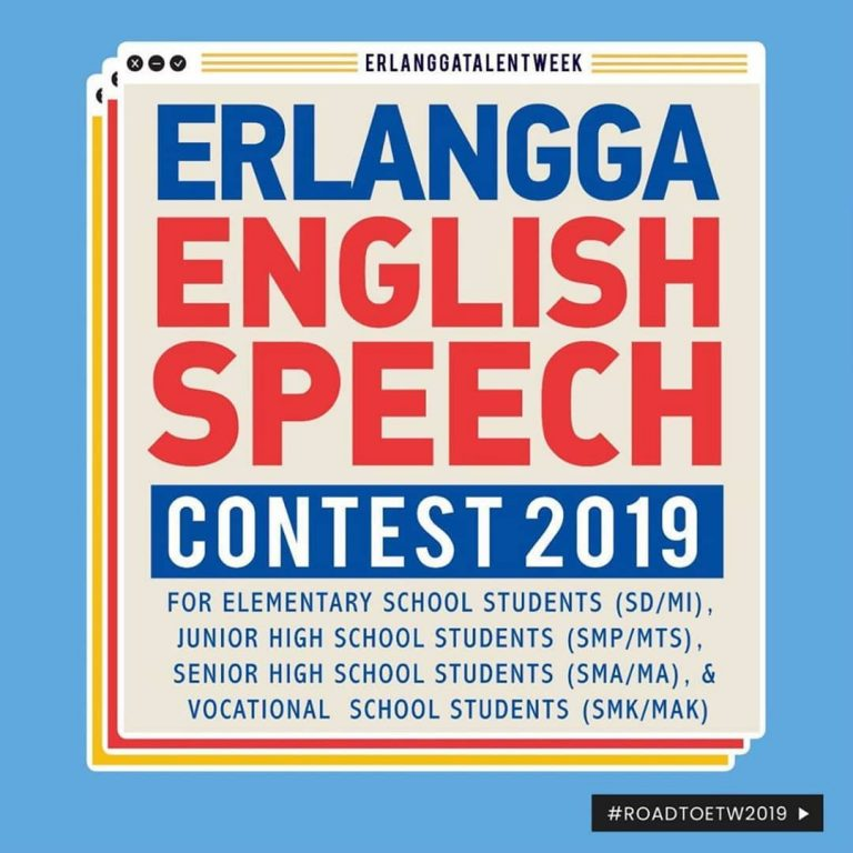 Pengumuman Semifinal Erlangga English Speech Contest 2019 SMP/MTs Tingkat Jabodetabek