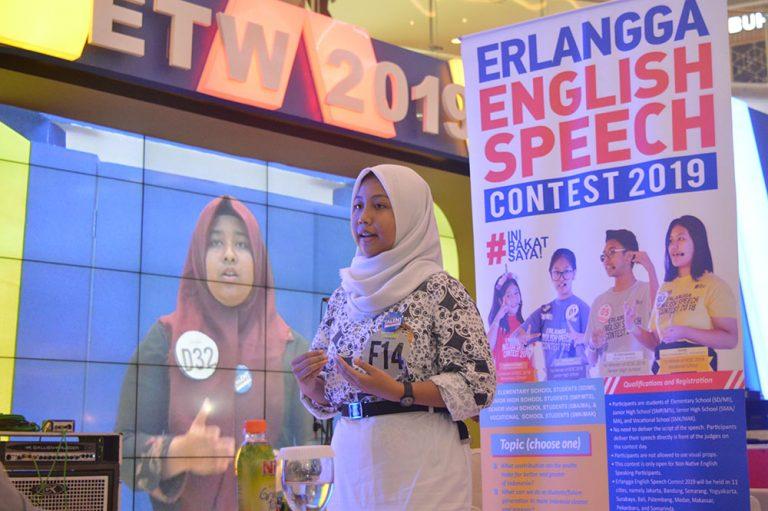 Update! Sebanyak 15.000 peserta dari 2.000 sekolah telah mengikuti Erlangga English Speech Contest 2019!